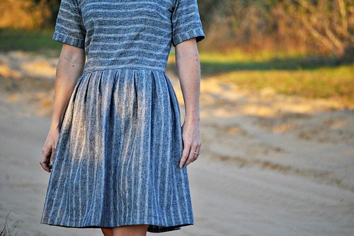 striped dress closeup