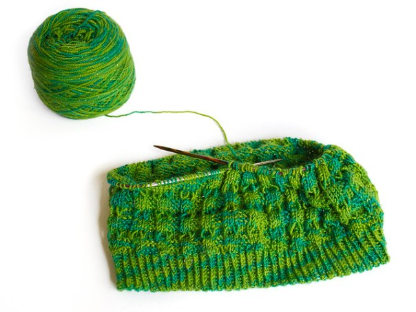 Rows of green cowl