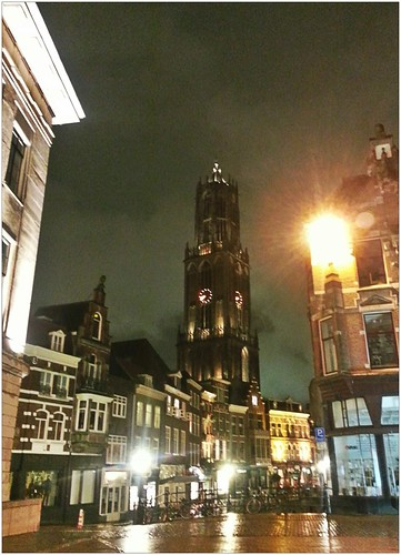 City hall, Domtoren & Vismarkt - by night by Bontrop