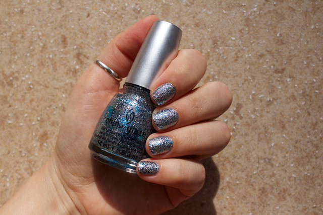 05 China Glaze Lorelei's Tiara in sunlight