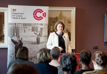 Marking International Women's Day, March 2014. Maria Miller's visit to the Imperial War Museum