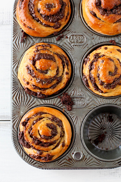 Chocolate swirl buns on annie's eats