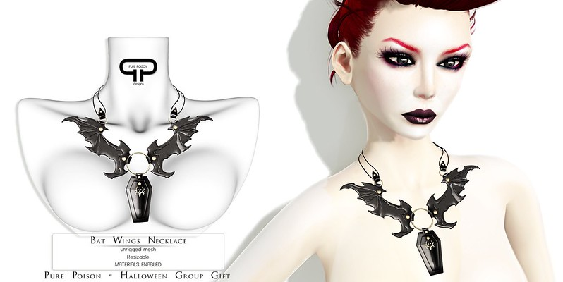 Pure Poison - Bat Wings Necklace - SPECIAL Halloween Group GIFT