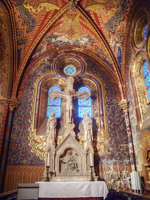 Inside Matthias Church.