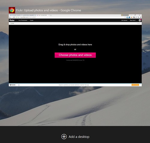 ที่หน้า Task view ของ Windows 10 จะมีให้เลือก Add desktop