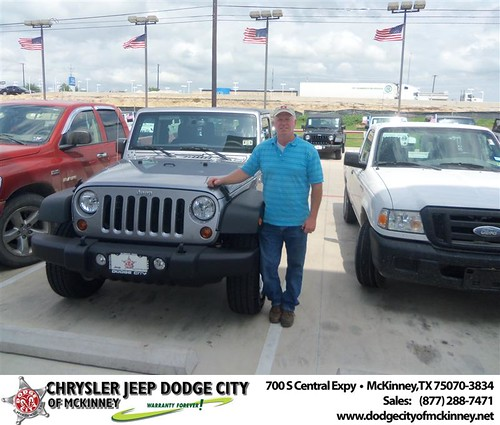 Dodge City of McKinney would like to say Congratulations to D&L Farm And Home on the 2013 Jeep Wrangler from Larry Reid by Dodge City McKinney Texas