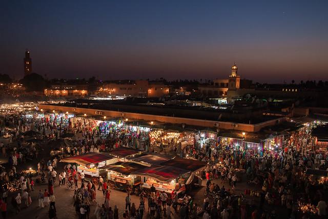 Place Jemaa el-Fna - Marrakech - Morocco - Maroc - Maroko - Μαρόκο - Fas - Marruecos - Marokko - Марокко - Night - Nuit - Photo Image Photography
