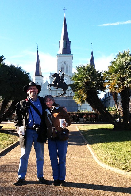 Charles and Rebecca at Jackson Square