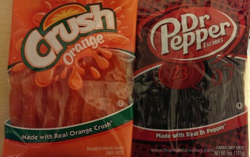 Orange Crush Dr Pepper Candy Twists