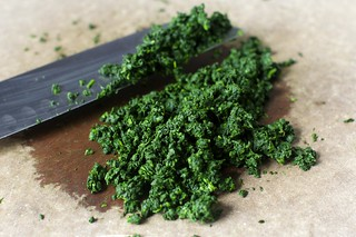 really finely chopped very squeezed spinach