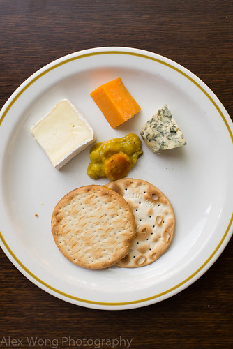 Cheese and Crackers with Piccalilly