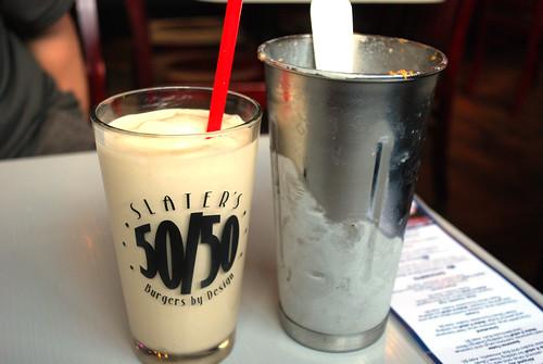 Slater's peanut butter milkshake