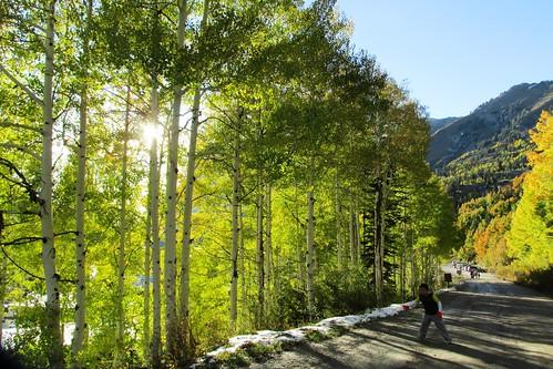 Paseo a las montañas y el Otoño