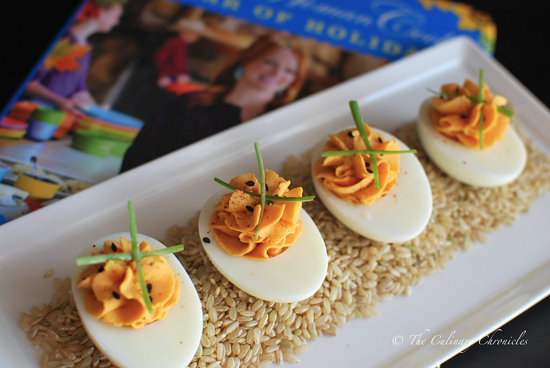 Sriracha Deviled Eggs + The Pioneer Woman Holiday Cookbook GIVEAWAY!