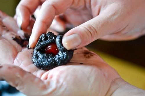 Chocolate-Cherry Cookie Balls-6