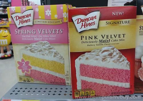 Duncan Hines Spring Velvet and Pink Velvet