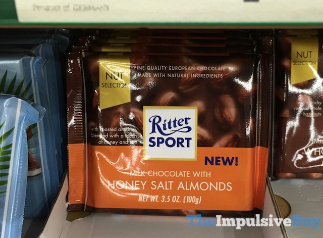 Ritter Sport Milk Chocolate with Honey Salt Almonds