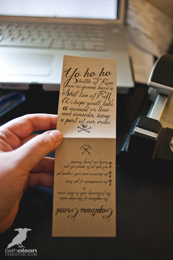 """DIY Tutorial for Wedding Party Proposal Invitation Gifts - Rum for our """"Pirate Crew"""""""