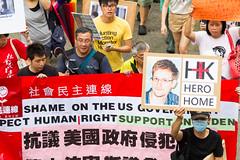 Is Snowden a Hero? / SnowdenHK: 香港聲援斯諾登遊行 Hong Kong Rally to Support Snowden / SML.20130615.7D.42298