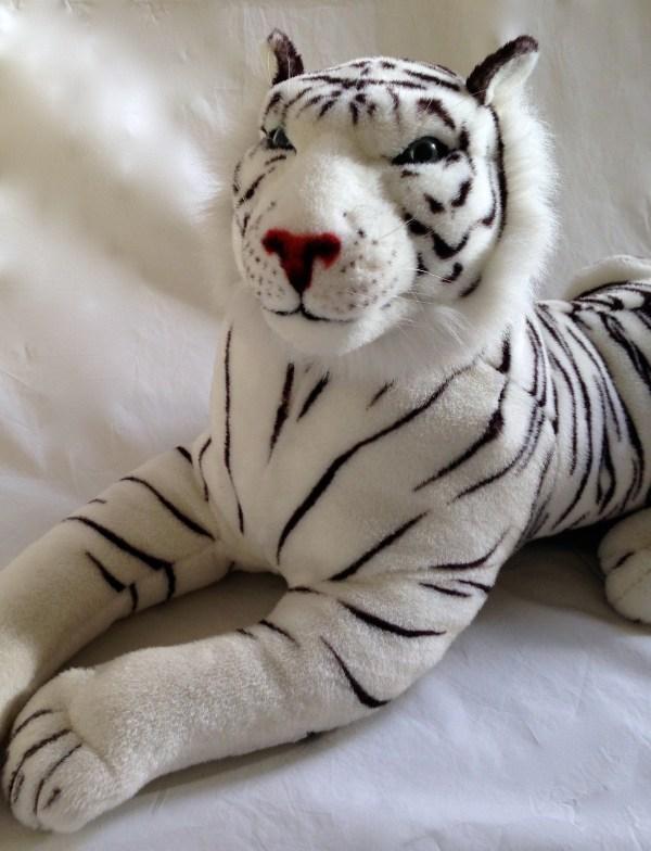 Large Realistic White Tiger Plush