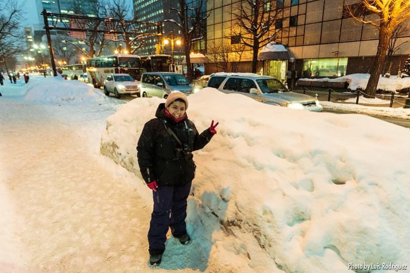 Nieve en Sapporo en febrero (Hokkaido)