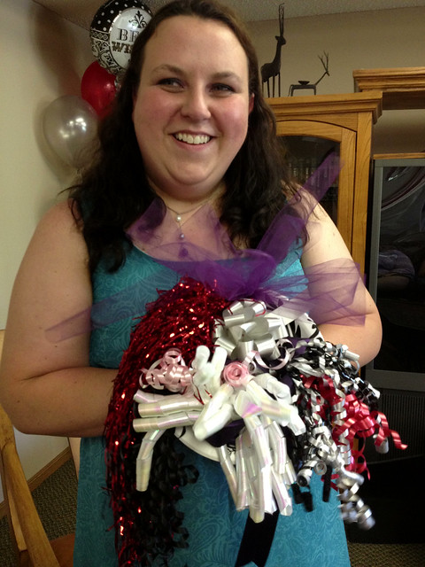 the lovely bride-to-be and her rehearsal bouquet! #project365