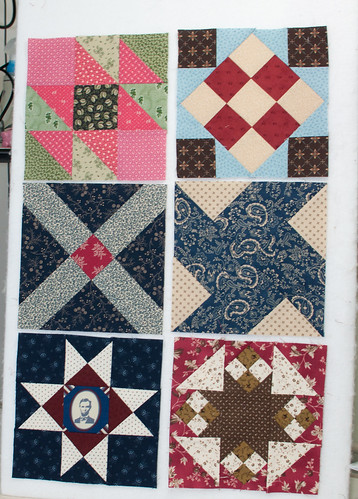 Civil War Sampler blocks