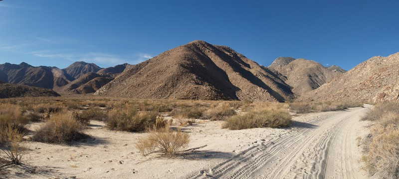 Taken while hiking out: Panorama view west toward Indian Canyon, Cougar Canyon, and Sheep Canyon.