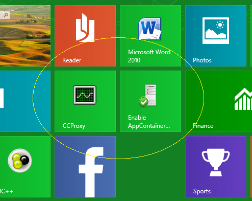 How to run Windows 8 Apps (Modern UI) Store behind College