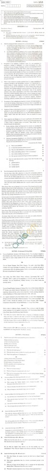CBSE Board Exam 2013 Class XII Question Paper -English (Core)