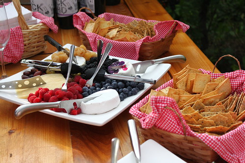 Snacks at Backyard Vineyards