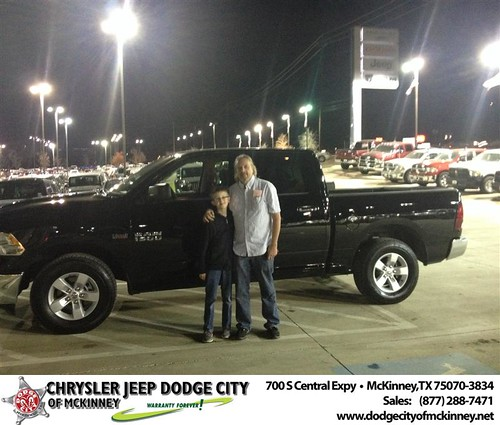 Thank you to John Fischer on your new 2013 #Ram #1500 from Tyler Stalnaker and everyone at Dodge City of McKinney! #Awesome by Dodge City McKinney Texas