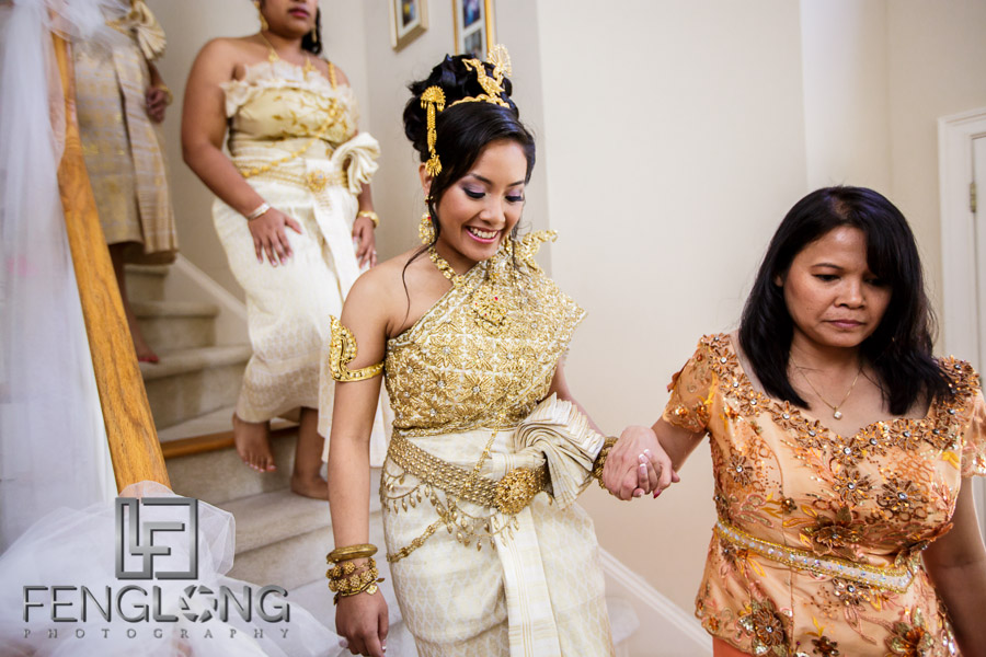 Preparing for the third Cambodian wedding ceremony