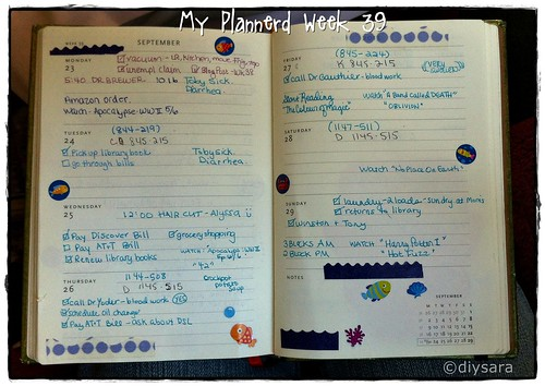 My Plannerd Week 39