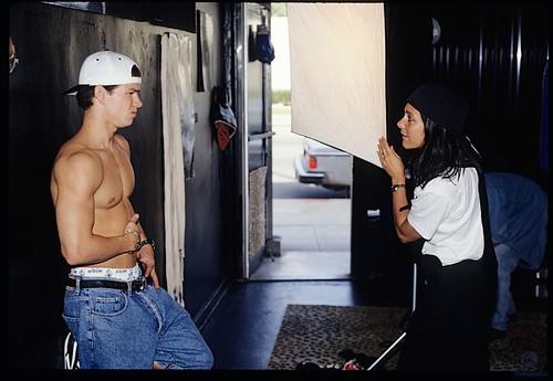 Lynn with Mark Wahlberg