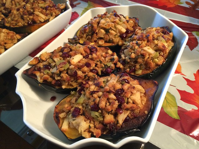Acorn squash with stuffing
