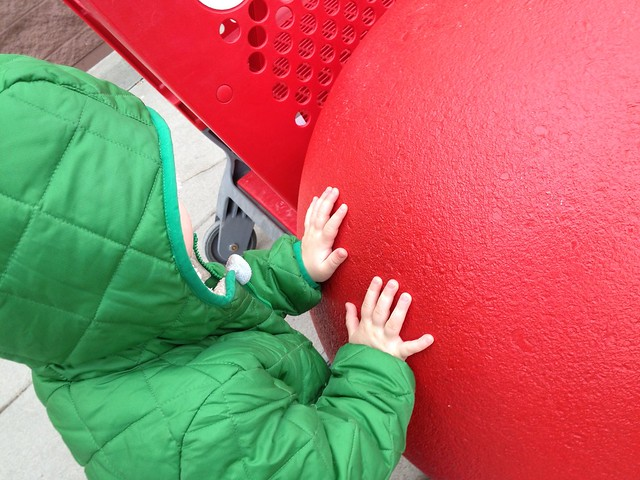 Touch big red ball!