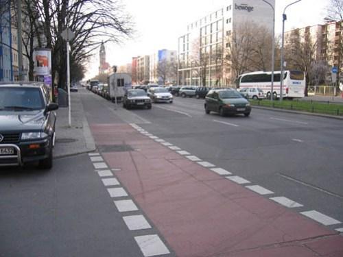 Berlin - buffered bike lane