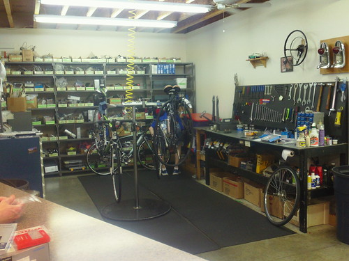 Cookeville Bicycles work shop