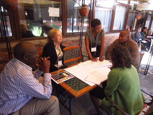 Group discussion about integrating M&E with project management (photo credit: ILRI / Ewen Le Borgne)