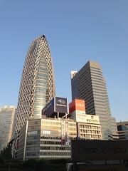 新宿駅前で一服