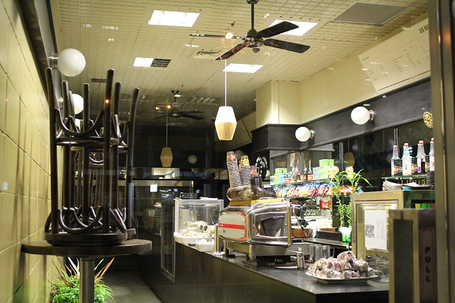 Monday: my coffee shop, after hours
