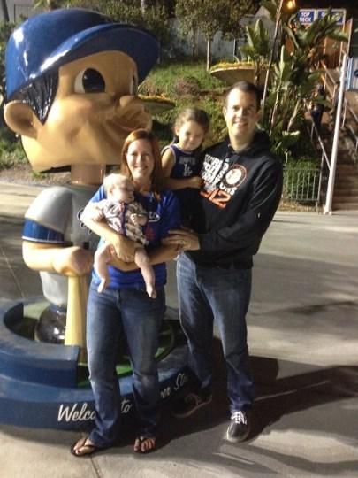 dodger family (with one weirdo)
