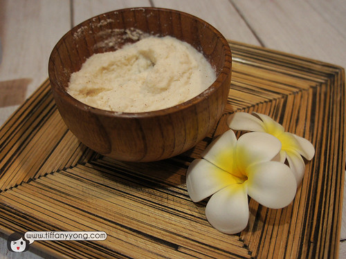 Home-made rice scrub