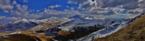 Mount Snowdon in the snow