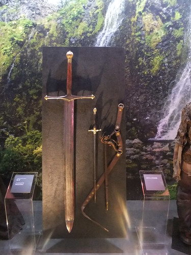 "Ned's Sword Ice and Arya's needle ""Stick 'em with the pointy end!"""