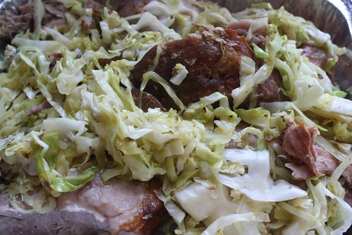 Kahlua Pork & Cabbage, preshredding