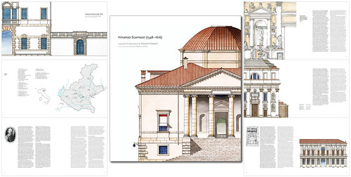 """Cover and pages from my new book """"Vincenzo Scamozzi (1548-1616) by Giovanni Giaconi Illustrator"""