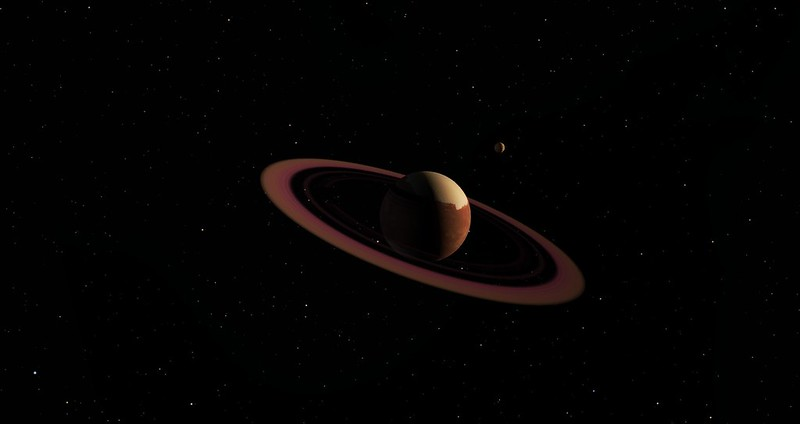 The rings are prettier in Space Engine 0.97
