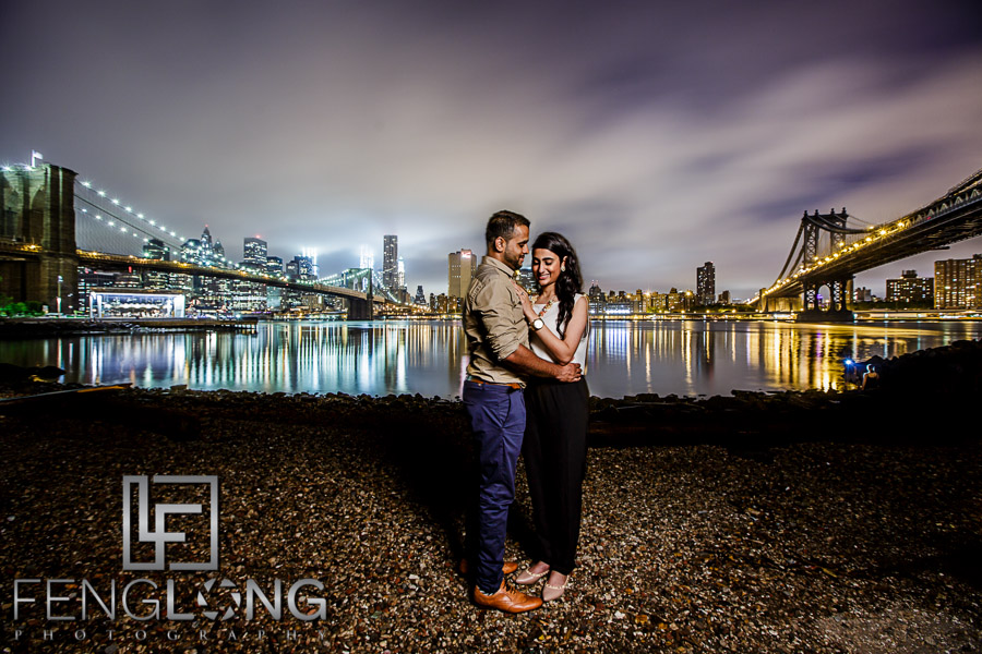 Zeenat & Ayaz's Destination Engagement | Central Park, Brooklyn Bridge | New York City Destination Indian Wedding